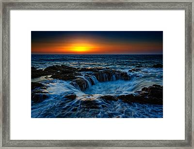 Thor's Well II Framed Print by Rick Berk