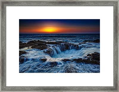 Thor's Well Framed Print by Rick Berk
