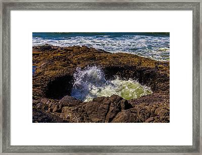 Thor's Well Sunken Cave Framed Print