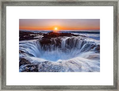Thors' Well Framed Print by Miles Morgan