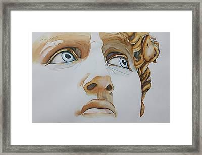 Those Eyes Framed Print
