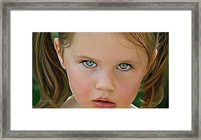 Those Eyes Framed Print by Elzire S