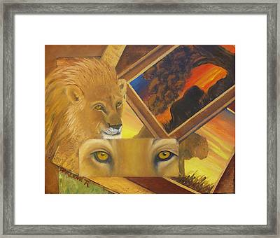 Those Eyes Lion Framed Print by Darlene Green