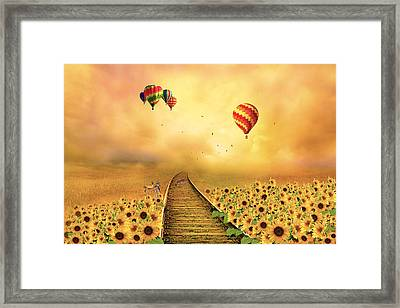 Framed Print featuring the photograph Those Infernal Flying Machines by Diane Schuster