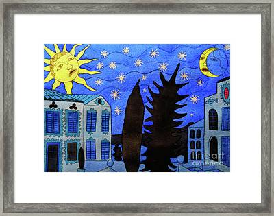 Those Romantic Nights Framed Print