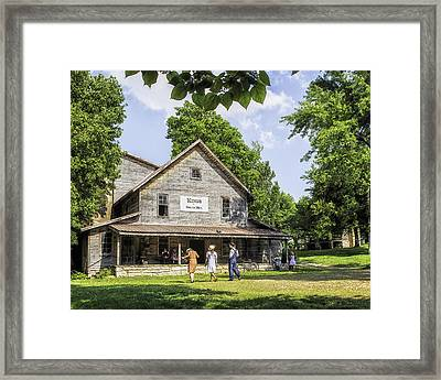 Those Were The Days Framed Print by Ron  McGinnis