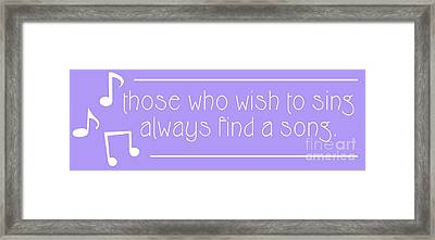 Those Who Sing Framed Print by Liesl Marelli