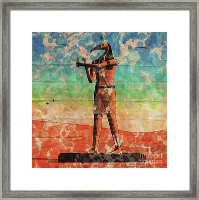 Thoth, God Of Egypt By Raphael Terra And Mary Bassett Framed Print
