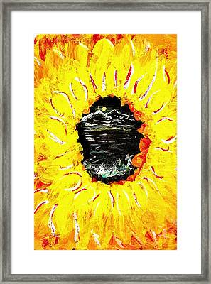 Though The Eye Of A Flower Framed Print by Ross Isgar
