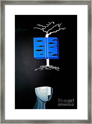 Thought Block Framed Print by Fei A