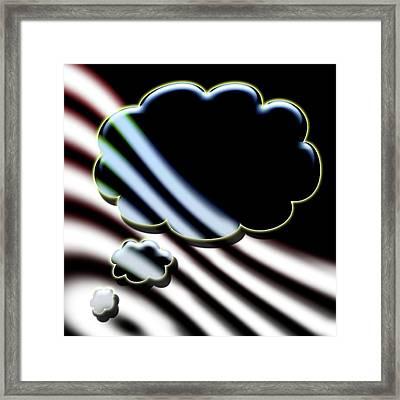 Thought Framed Print by David BERNARD