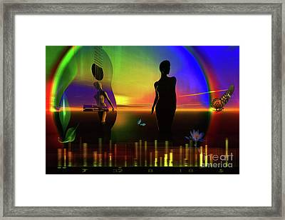 Framed Print featuring the digital art Thought Form by Shadowlea Is