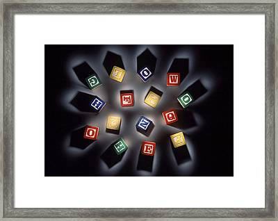 Thought Fragments Framed Print by Gerard Fritz