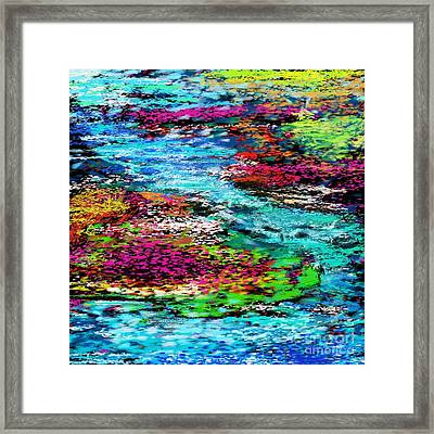 Thought Upon A Stream Framed Print