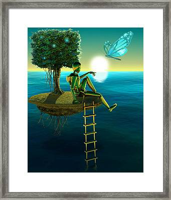 Thought Framed Print by Vanessa Bates