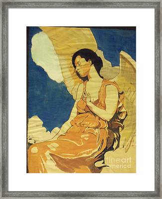 Thoughtful Angel Framed Print