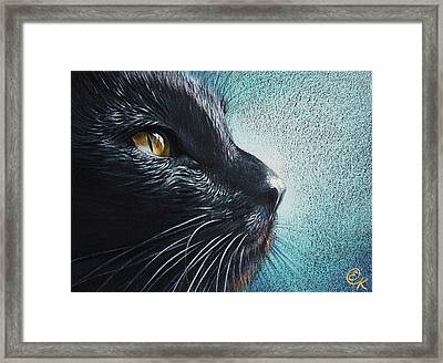 Thoughtful Cat Framed Print