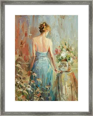 Framed Print featuring the painting Thoughtful by Steve Henderson