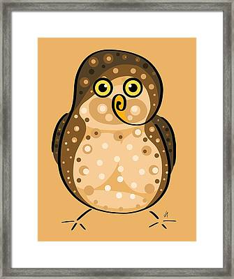 Thoughts And Colors Series Owl Framed Print