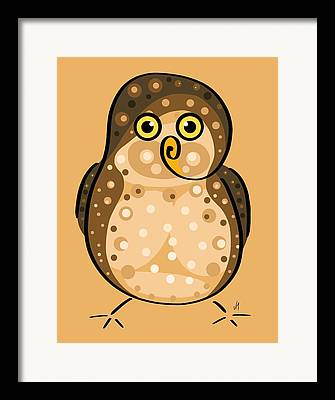 Stylized Bird Framed Prints