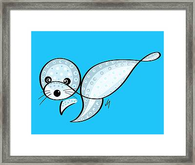 Thoughts And Colors Series Seal Framed Print by Veronica Minozzi