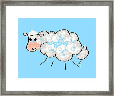 Thoughts  And Colors Series Sheep Framed Print by Veronica Minozzi