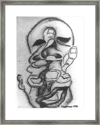 Thoughts And Thinking  Framed Print