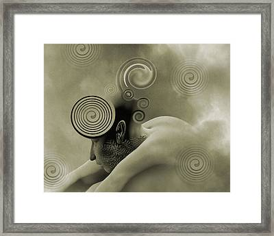 Thoughts Are Born Sepia Framed Print