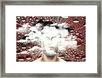 Thoughts Are Like Clouds Passing Through The Sky Framed Print