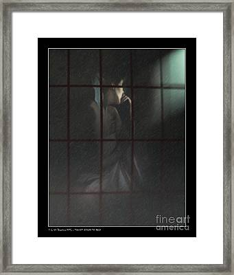 Thoughts Behind The Rain Framed Print
