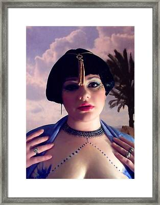 Thoughts In Egypt Framed Print by Scarlett Royal