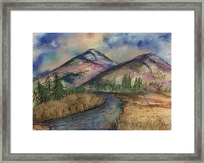 Framed Print featuring the painting Thoughts Of Glacier by Annette Berglund