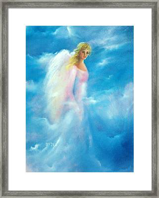 Thoughts Of Kimber Framed Print by Sally Seago