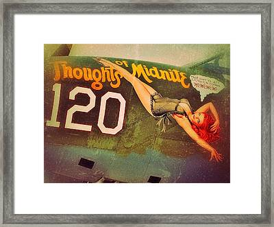 Thoughts Of Midnite Framed Print by Pair of Spades