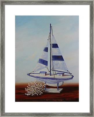Thoughts Of Sea Framed Print