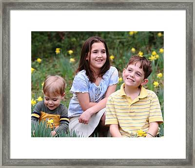 Thoughts Of Spring - J Family Framed Print by Lisa Johnston