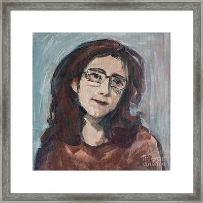 Framed Print featuring the painting Thoughts by Olimpia - Hinamatsuri Barbu