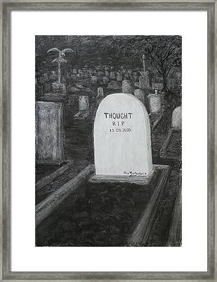 Thoughts  Silent As The Grave Framed Print by Alex Mortensen