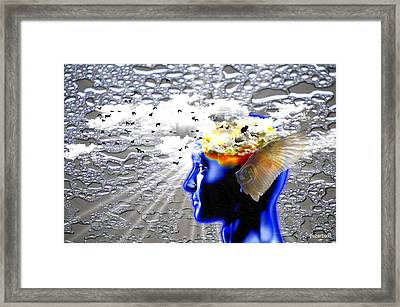 Thougths Are Like Birds Framed Print