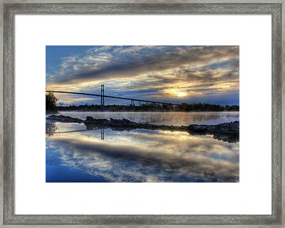 Thousand Islands Bridge Framed Print by Lori Deiter