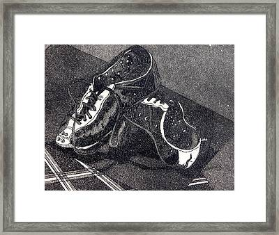 Thousand Mile Bicycle Shoes Framed Print by Jan Bennicoff
