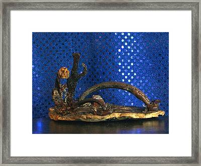 Framed Print featuring the photograph Thr Ferry Man by Carolyn Cable