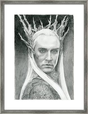 Thranduil The Elven King Of Mirkwood Framed Print