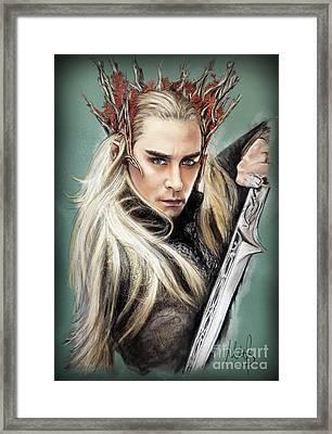 Thranduil / The Hobbit / Framed Print by Melanie D