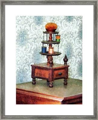 Thread Carousel Framed Print by Susan Savad