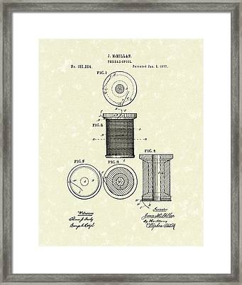 Thread Spool 1877 Patent Art Framed Print