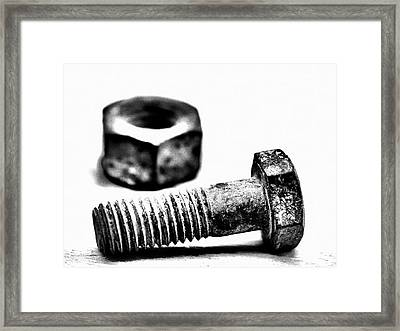 Threaded Framed Print by Tom Druin