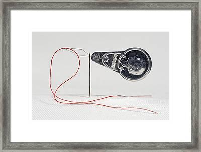 Threading A Needle Framed Print by Torsten Becker