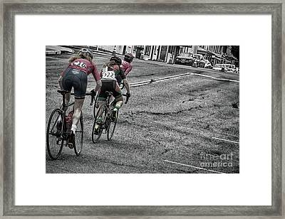 Threading The Hill  Framed Print by Steven Digman