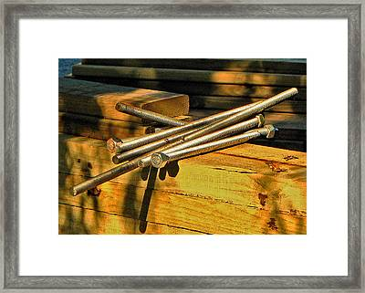 Threads And Grains Framed Print
